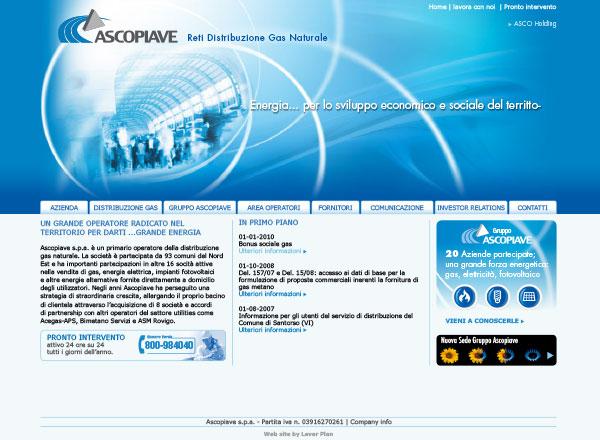 Agenzia marketing e comunicazione web marketing e web design - sito web distribuzione gas