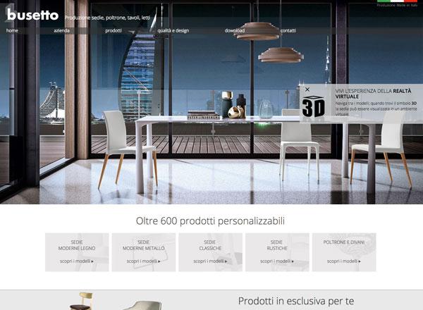 Agenzia di marketing e comunicazione web marketing e web design - Sito web tavoli e sedie