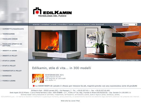 Agenzia pubblicitaria marketing comunicazione pubblicità - Sito web caminetti, stufe, caldaie