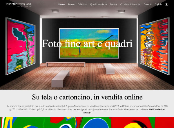 Agenzia di marketing e comunicazione web marketing e web design - Sito web ecommerce quadri arte