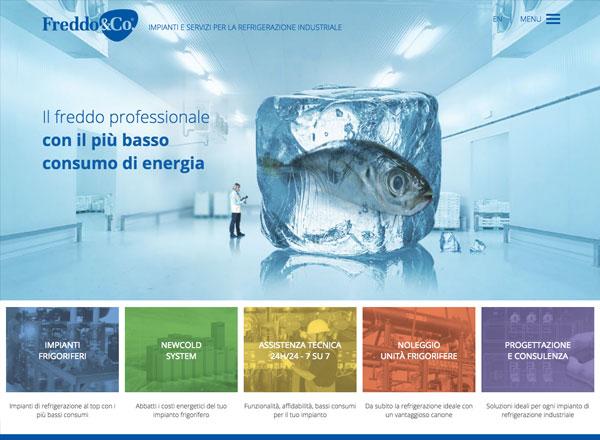 Agenzia di marketing e comunicazione web marketing e web design - sito web impianti frigoriferi