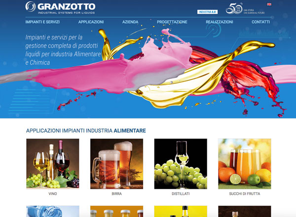 Agenzia di marketing e comunicazione web marketing e web design - Sito web settore impianti industriali
