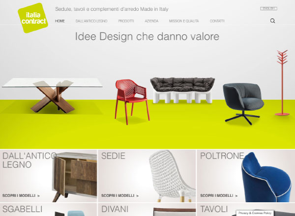 Agenzia marketing e comunicazione web marketing e web design - sito web complementi arredo