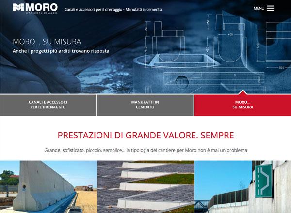 Agenzia di marketing e comunicazione web marketing e web design - Sito web sistemi drenaggio e manufatti cemento