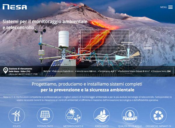 Agenzia di marketing e comunicazione web marketing e web design - Sito web sistemi monitoraggio ambientale