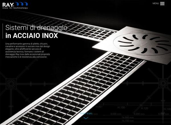 Agenzia di marketing e comunicazione web marketing e web design - sito web sistemi di drenaggio inox.