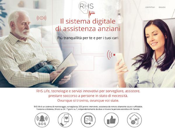 Agenzia di comunicazione e marketing web marketing e web design - sito web monitoraggio anziani