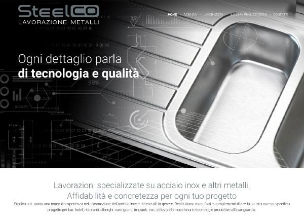Agenzia di marketing e comunicazione web marketing e web design - sito web lavorazioni acciaio inox